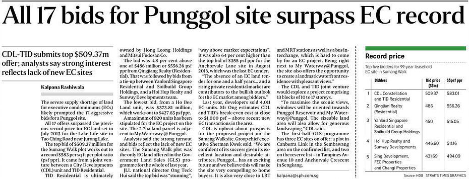 CDL-won-top-bid-sumang-walk-site-in-punggol-to-be-developed-piermont-grand-executive-condominium